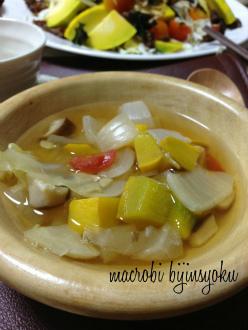 8月マクロビコーススープ