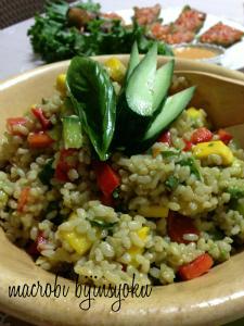 マクロビオティック夏野菜サラダライス