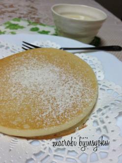 マクロビスイーツ米粉パンケーキ