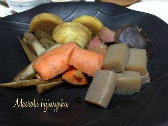 マクロビオティック根菜とこんにゃく煮