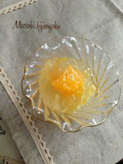 マクロビスイーツ6月柑橘類の葛ゼリー