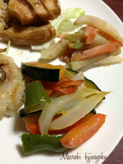 マクロビ焼き野菜のマリネ
