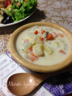 マクロビ豆乳味噌スープ26年7月