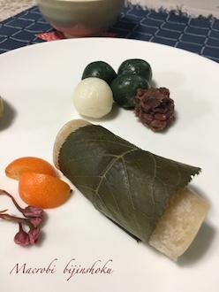 マクロビオティック桜餅とお団子