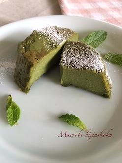 マクロビオティック抹茶レアケーキ