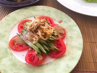 マクロビ棒々鶏風サラダ30.7
