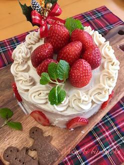 マクロビデコレーションケーキ