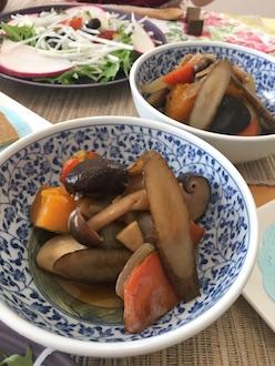 マクロビ蒸し煮野菜の煮物28.12