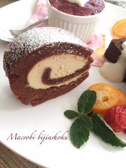 米粉のチョコロールケーキ29.1