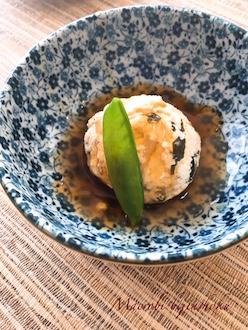 マクロビ豆腐の茶巾蒸し29.3
