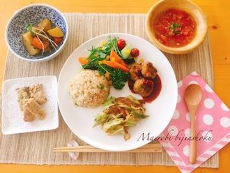 マクロビ野菜コース29.5炒め野菜