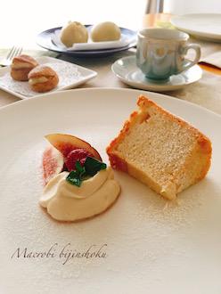 マクロビ米粉のシフォンケーキ2